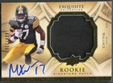 2009 Exquisite Collection #177 Mike Wallace Rookie Patch Auto #004/225