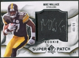 2009 SP Authentic #RSPMW Mike Wallace Rookie Super Patch Auto #40/99