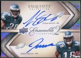 2009 Exquisite Collection #MM Jeremy Maclin & LeSean McCoy Ensemble 2 Signatures Rookie Auto #46/50