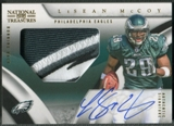 2009 Playoff National Treasures #119 LeSean McCoy Rookie Signature Material Gold Patch Auto #11/25