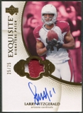 2007 Exquisite Collection #LF Larry Fitzgerald Signature Swatches Patch Auto #25/25