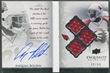 2009 Exquisite Collection #AB Anquan Boldin Autobiography Jersey Signatures Auto #20/99