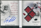 2009 Exquisite Collection #AB Anquan Boldin Autobiography Jersey Signatures Auto #87/99