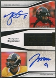 2009 Playoff National Treasures #5 Michael Crabtree & Jeremy Maclin Pen Pals Rookie Auto
