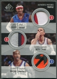 2004/05 SP Game Used #IKM Allen Iverson Jason Kidd Stephon Marbury Authentic Patches Triple Patch #03/10