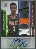 2009/10 Absolute Memorabilia #142 Brandon Jennings Rookie Jersey Ball Auto #010/499