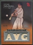 2009 Topps Sterling #161 Stan Musial Career Chronicles Relics Triple Bat Jersey #18/25