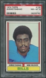 1974 Topps Football #105 Ahmad Rashad Rookie PSA 8 (NM-MT) *2760