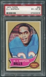 1970 Topps Football #90 O.J. Simpson Rookie PSA 6 (EX-MT) *3209