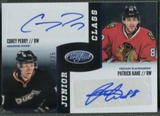 2012/13 Certified #17 Corey Perry & Patrick Kane Junior Class Signatures Auto #10/25