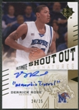 2010/11 Ultimate Collection #SODR Derrick Rose College Shout Out Signatures Auto #24/35