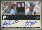 2008 SP Legendary Cuts #SB Mike Schmidt & Ryan Braun Generations Dual Auto #16/75
