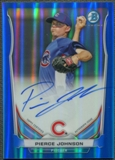 2014 Bowman Chrome Prospect #BCAPPJ Pierce Johnson Rookie Blue Refractor Auto #048/150