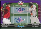 2013 Bowman Draft #BD Trey Ball & Jon Denney Rookie Dual Draftee Purple Auto #05/10