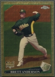 2009 Topps Chrome #192 Brett Anderson Rookie SuperFractor #1/1