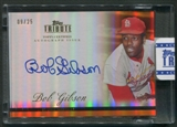2012 Topps Tribute #BGI Bob Gibson Orange Auto #09/25