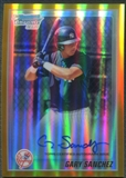 2010 Bowman Chrome Prospects #BCP207B Gary Sanchez Rookie Gold Refractor Auto #47/50