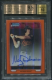 2012 Bowman Chrome Prospect #BCP92 Nick Delmonico Orange Refractor Rookie Auto #11/25 BGS 9.5