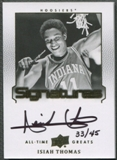 2013 Upper Deck All-Time Greats #ATGIT1 Isiah Thomas Signatures Auto #33/45