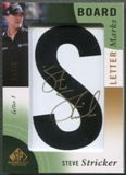 "2014 SP Game Used #LLSS1 Steve Stricker Leader Board Letter Marks ""S"" Auto #25/35"