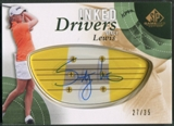 2014 SP Game Used #IDSL Stacy Lewis Inked Drivers Blonde Persimmon Auto #27/35
