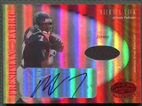 2001 Leaf Certified Materials #133 Michael Vick Mirror Red Rookie Jersey Auto #021/150