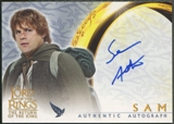 2003 Lord of the Rings #NNO Sean Astin as Sam The Return of the King Auto