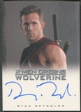 2009 X-Men Origins Wolverine #RR Ryan Reynolds as Wade Wilson Auto