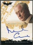2005 Batman Begins Movie #5 Michael Caine as Alfred Pennyworth Auto