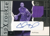 2003/04 SPx #154 Chris Bosh Rookie Jersey Auto #040/750