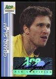 2013 Leaf Ace Authentic Grand Slam Blue #BAMZ1 Mischa Zverev Autograph 4/5
