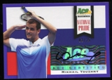 2013 Leaf Ace Authentic Grand Slam National Pride Autographs Purple #NPMY1 Mikhail Youzhny Autograph 3/25