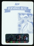 2013 Leaf Ace Authentic Grand Slam Personal Best Autographs Printing Plates Cyan #PBMLB Michelle Larcher de Br