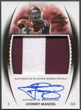 2014 Leaf Trinity #DPJM2 Johnny Manziel Bronze Rookie Jumbo Patch Auto