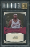 2005/06 SP Signature Edition #LJ LeBron James Signatures Auto (Faded) BGS 9