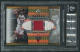 2006/07 Reflections #MJ Michael Jordan Triple Fabric Gold Jersey #089/100 BGS 9