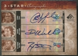 2006/07 SP Signature Edition #PWF Chris Paul Deron Williams Raymond Felton Three Star Auto #13/25