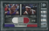 2004/05 Upper Deck R-Class #BJ Kobe Bryant LeBron James R-Tifacts Dual Jersey SP BGS 9