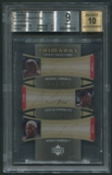 2005/06 Upper Deck Trilogy #JPR Michael Jordan Scottie Pippen Dennis Rodman TriMarks Auto (Faded) #09/10 BGS 9