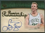 2007/08 Upper Deck Premier #LB Larry Bird Penmanship Gold Auto #02/33