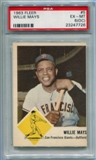 1963 Fleer Baseball #5 Willie Mays PSA 6(OC) (EX-MT) *7726