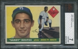 1955 Topps Baseball #123 Sandy Koufax Rookie BVG 7 (NM) *7998