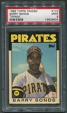 1986 Topps Traded Tiffany Baseball #11T Barry Bonds Rookie PSA 9 (MINT) *9633