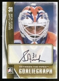 2013-14 In the Game Between the Pipes Autographs #AGF Grant Fuhr SP Autograph