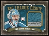 2013-14 In the Game Between the Pipes Big League Debut Jerseys Gold #BLD03 Evgeni Nabokov /10