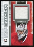 2013-14 In the Game Between the Pipes Draft Day Jerseys Silver #DD04 Corey Crawford /90