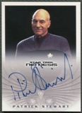 2002 Star Trek Nemesis #NA12 Patrick Stewart as Captain Jean-Luc Picard Auto SP