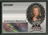 2008 Topps Ultimate Rivals WWE #2 Edge Auto