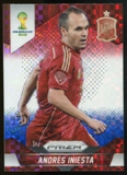 2014 Panini Prizm World Cup Prizms Red White and Blue #177 Andres Iniesta