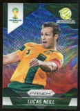 2014 Panini Prizm World Cup Prizms Blue and Red Wave #15 Lucas Neill
